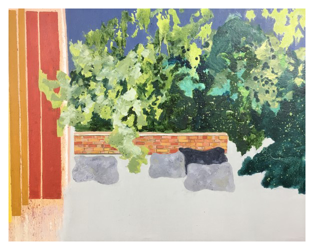 'Through The Window' (76 x 62 cm, oil on canvas, 2017)