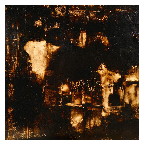 'Africa' (122 x 123cm, oil & mixed media on canvas, 2009) SOLD