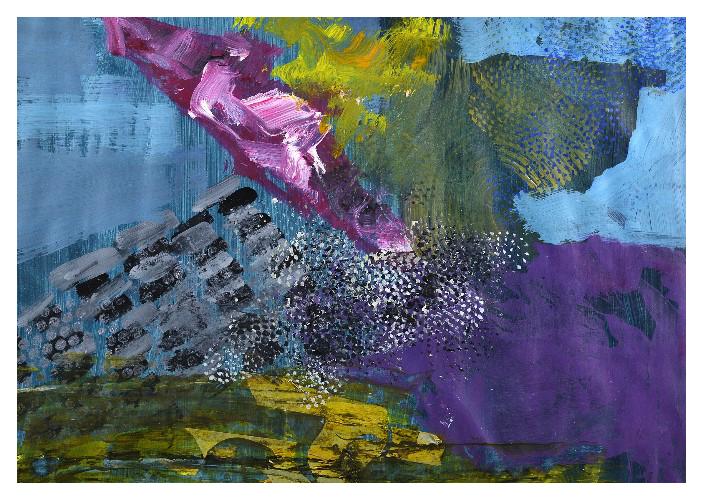 'A.K.II' (58 x 40cm, acrylic on paper, 2015) £350