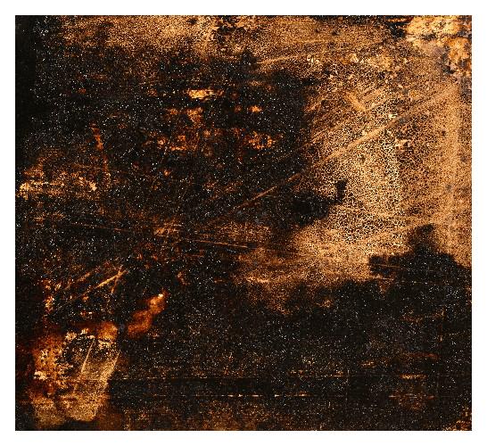 'Crackle' (60 x 55cm, acrylic & mixed media on wood, 2008) £850