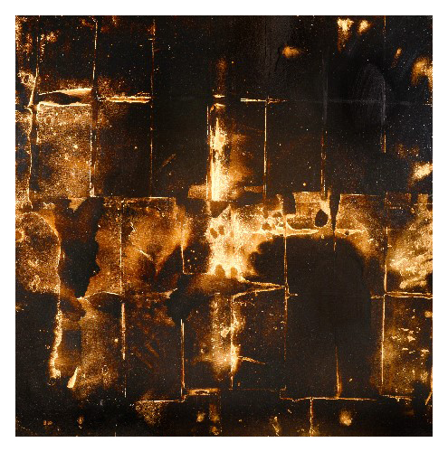 'U.S.S.' (136 x 136cm, oil and mixed media on canvas, 2009)