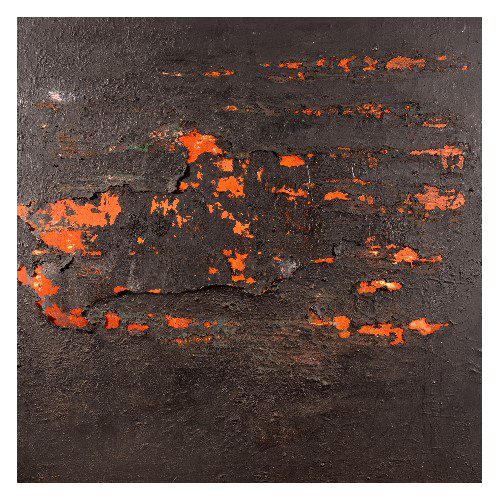 'Mud', made at Westminster Cathedral (132 x 132cm, oil & mixed media on canvas, 2003)