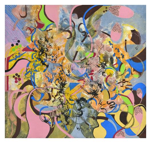 'Music I' (54 x 50cm, acrylic on canvas, 2015) £380