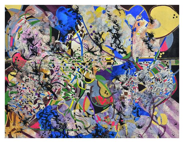 'Music II' (66 x 51cm, acrylic on canvas, 2015) SOLD