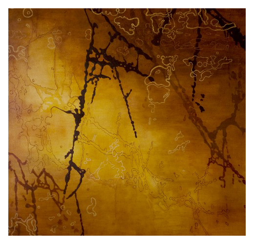 'Marble', made at Westminster Cathedral (169 x 169cm, oil & mixed media on canvas, 2003)