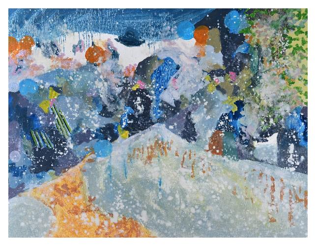 'Snow' (76 x 60cm, oil on canvas, 2015)