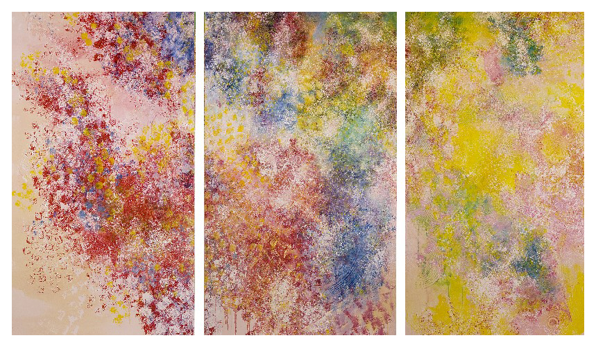'Friday, Saturday, Sunday', made at Westminster Cathedral (274 x 152cm, oil on canvas, 2002)