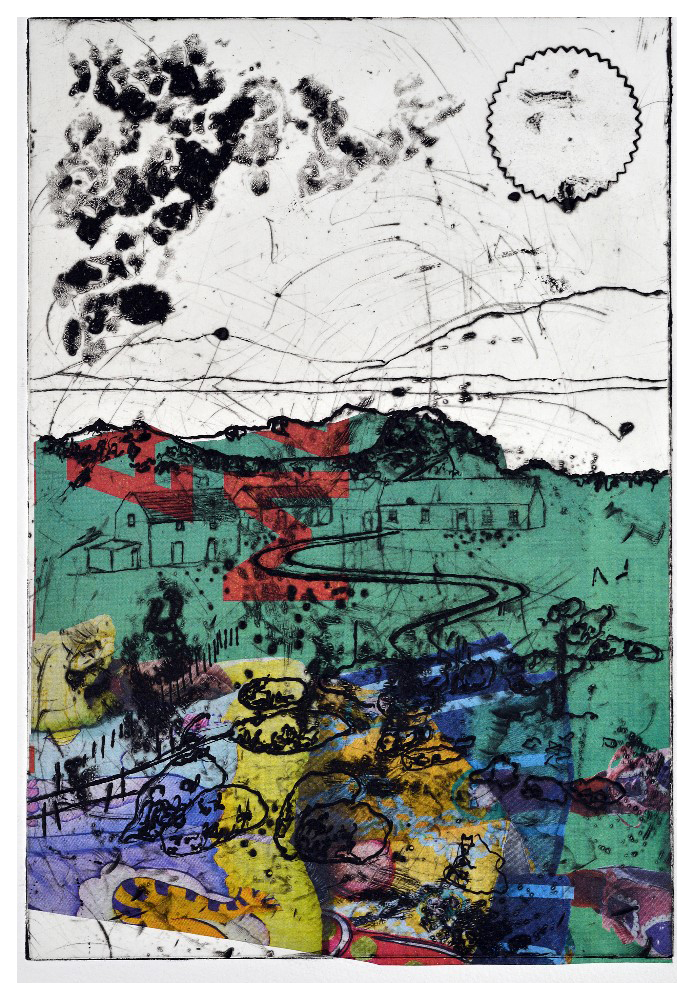 'Grayson' (20 x 28cm, drypoint, 2016) EV 4/50