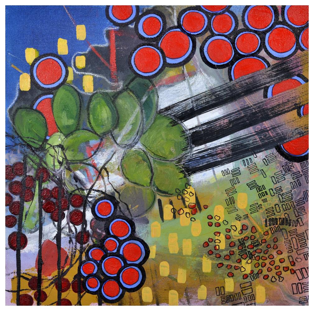 'Wreath' (50 x 50cm, oil on canvas, 2018) £560