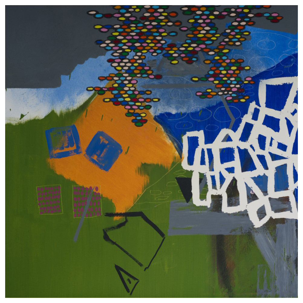'Take A Seat' (86 x 87 cm, oil on canvas, 2019)