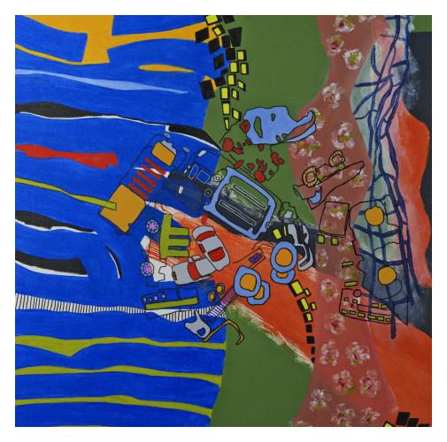 'Family' (90 x 90 cm, oil canvas, 2020) £875