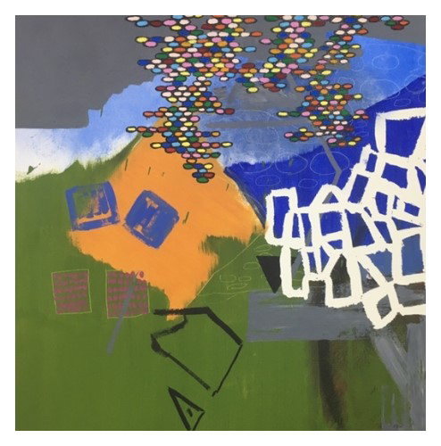 'Take A Seat' (86 x 87 cm, oil on canvas, 2019) £855